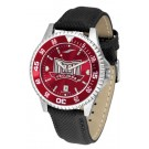 Troy State Trojans Competitor AnoChrome Men's Watch with Nylon/Leather Band and Colored Bezel
