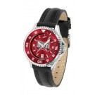 Troy State Trojans Competitor Ladies AnoChrome Watch with Leather Band and Colored Bezel