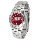 Troy State Trojans Sport AnoChrome Ladies Watch with Steel Band