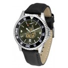 UCF (Central Florida) Knights Competitor AnoChrome Men's Watch with Nylon/Leather Band and Colored Bezel