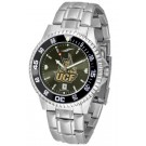UCF (Central Florida) Knights Competitor AnoChrome Men's Watch with Steel Band and Colored Bezel