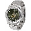 UCF (Central Florida) Knights Sport Steel Band Ano-Chrome Men's Watch