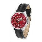 Louisiana (Monroe) Warhawks Competitor Ladies AnoChrome Watch with Leather Band and Colored Bezel