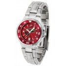 Louisiana (Monroe) Warhawks Competitor AnoChrome Ladies Watch with Steel Band and Colored Bezel