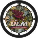 "Louisiana (Monroe) Warhawks 12"" Camo Wall Clock"