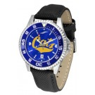 Montana State Bobcats Competitor AnoChrome Men's Watch with Nylon/Leather Band and Colored Bezel