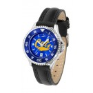 Montana State Bobcats Competitor Ladies AnoChrome Watch with Leather Band and Colored Bezel