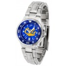 Montana State Bobcats Competitor AnoChrome Ladies Watch with Steel Band and Colored Bezel