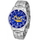 Montana State Bobcats Competitor AnoChrome Men's Watch with Steel Band and Colored Bezel