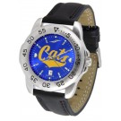 Montana State Bobcats Sport AnoChrome Men's Watch with Leather Band