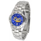 Montana State Bobcats Sport AnoChrome Ladies Watch with Steel Band
