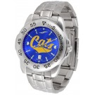 Montana State Bobcats Sport Steel Band Ano-Chrome Men's Watch