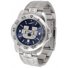 Utah State Aggies Sport Steel Band Ano-Chrome Men's Watch