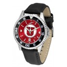 Utah Utes Competitor AnoChrome Men's Watch with Nylon/Leather Band and Colored Bezel