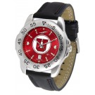 Utah Utes Sport AnoChrome Men's Watch with Leather Band