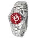 Utah Utes Sport AnoChrome Ladies Watch with Steel Band