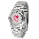 Utah Utes Gameday Sport Ladies' Watch with a Metal Band