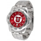 Utah Utes Sport Steel Band Ano-Chrome Men's Watch
