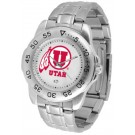 Utah Utes Sport Steel Band Men's Watch