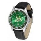 Utah Valley State (UVSC) Wolverines Competitor AnoChrome Men's Watch with Nylon/Leather Band and Colored Bezel
