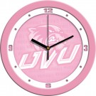 "Utah Valley State (UVSC) Wolverines 12"" Pink Wall Clock"