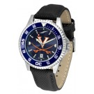 Virginia Cavaliers Competitor AnoChrome Men's Watch with Nylon/Leather Band and Colored Bezel