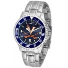 Virginia Cavaliers Competitor AnoChrome Men's Watch with Steel Band and Colored Bezel