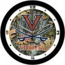 """Virginia Cavaliers 12"""" Camo Wall Clock"""