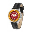 Virginia Tech Hokies Competitor Ladies AnoChrome Watch with Leather Band and Colored Bezel