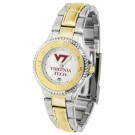 Virginia Tech Hokies Competitor Ladies Watch with Two-Tone Band
