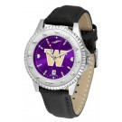 Washington Huskies Competitor AnoChrome Men's Watch with Nylon/Leather Band