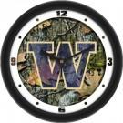 """Washington Huskies 12"""" Camo Wall Clock"""