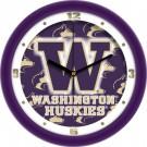 "Washington Huskies 12"" Dimension Wall Clock"