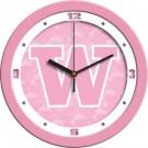 """Washington Huskies 12"""" Pink Wall Clock"""