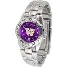 Washington Huskies Sport AnoChrome Ladies Watch with Steel Band