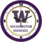 """Washington Huskies Traditional 12"""" Wall Clock"""