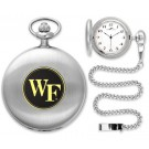 Wake Forest Demon Deacons Silver Pocket Watch