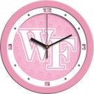 "Wake Forest Demon Deacons 12"" Pink Wall Clock"