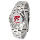 Wisconsin Badgers Gameday Sport Ladies' Watch with a Metal Band