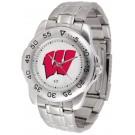 Wisconsin Badgers Sport Steel Band Men's Watch
