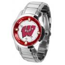 Wisconsin Badgers Titan Steel Watch