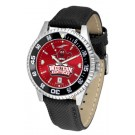 Western Kentucky Hilltoppers Competitor AnoChrome Men's Watch with Nylon/Leather Band and Colored Bezel