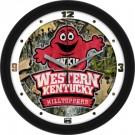 """Western Kentucky Hilltoppers 12"""" Camo Wall Clock"""