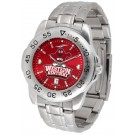 Western Kentucky Hilltoppers Sport Steel Band Ano-Chrome Men's Watch