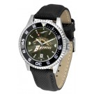 Western Michigan Broncos Competitor AnoChrome Men's Watch with Nylon/Leather Band and Colored Bezel