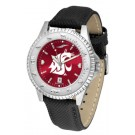 Washington State Cougars Competitor AnoChrome Men's Watch with Nylon/Leather Band