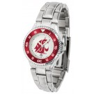 Washington State Cougars Competitor Ladies Watch with Steel Band