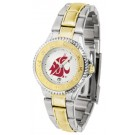 Washington State Cougars Competitor Ladies Watch with Two-Tone Band