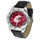 Washington State Cougars Sport AnoChrome Men's Watch with Leather Band