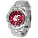 Washington State Cougars Sport Steel Band Ano-Chrome Men's Watch